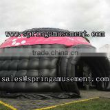 Hotsale PVC type tent black and pink inflatable double layer dome tent for party SP-T3021