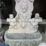 Stone lion head fountain hand carved marble stone sculpture for garden home from Vietnam