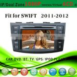 touch screen car dvd player fit for Kia Suzuki Swift 2011 - 2012 with radio bluetooth gps tv pip dual zone