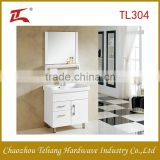 Modern design white oak bathroom cabinet with single bar,floor standing water proof suitable for home bathroom
