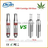 510 ceramic glass vape cartridge 0.5ml empty tank atomizer cbd thc oil vaporizer bud gla3