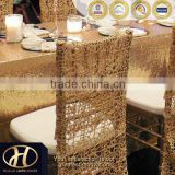 GOLD CHEMICAL EMBROIDERY CHAIR FULL BACK COVER FOR WEDDING                                                                         Quality Choice