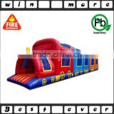 best selling children's park bounce express train inflatable obstacle course equipment for sale                                                                                                         Supplier's Choice