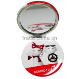 Newly product arrival pocket mirror with led light personalized cosmetic small mirror pieces