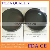 Factory outlets1.56/1.61/1.67 Spin photochromic high index optical lens blanks, ophthalmic lenses