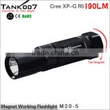 200 lumen bright 5 modes working magnetic torch led flashlight