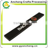 Brand logo customized soft rubber PVC bar mat
