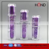 15ml 30ml 50ml 100ml Wholesale square cosmetic bottle with pump; acrylic plastic lotion bottle