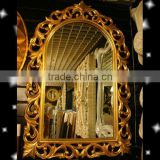 rustic overmantle framed wall mirror,glass salon decorative mirror,big ornate hanging mirror