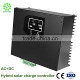 AC adapter+MPPT hybrid solar charge controller 10A 12V for on grid solar lighting system