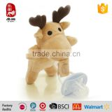 High Quality Custom Baby Pacifier with Plush Mini Animal Toy Holder                                                                         Quality Choice