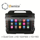 quad core Android 4.4 Ownice C300 Car Electronics navi for Kia Sportage R support OBD Bluetooth PHONEBOOK RDS