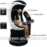 9d vr chairs vr simulator Amazing amusement park equipment 360 degrees viewing angle camera/9d cinema/3 seats 9d vr cinema