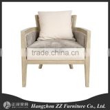 New classical European American leather sofa chair furniture/ vintage antique finish living room sofa/fabric rattan chair