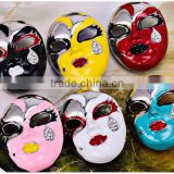 41*31mm 6 Colors Classic Chinese Face Mask Brooches For Women Rhinestone Personalized Brooch Gift