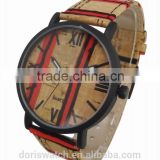 2015 New Model Real Wooden Cork Watch Mens Wrist Watches In Alibaba China, High Quality Wrist Watches