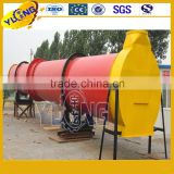 Organic Fertilizer Rotary Drum Dryer , Wood Chip Dryer 5.5kw/Low Consumption Industrial Rotary Drum Dryer