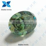 Green Oval Synthetic Moissanite Stones