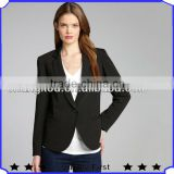 wholesale clothing lady suit woman black single button padded shoulder lady suit