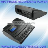 Voice recording box , phone recording box , telephone voice recorder , telephone recorder with mp3 player