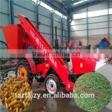 Corn combine harvester with corn husker and cornstalk chopper/Corn Harvester Machine