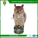 Rotating Owl Bird Sound Decoy, Plastic Bird Decoy to Keep Bird Away.