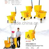 Single Mop Wringer Trolley for different situation used, Down press single/double Mop Wringer trolley with CE certificate,