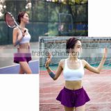 Hot sale quick dry fit women's sport skirts, tennis skirts, table tennis skirts, fitness shorts, gym shorts