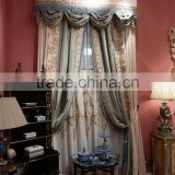 Italian-Style Soft Jacquard Door Curtain, Luxury Embroideried Blackout Window Curtain, Elegant Bedroom Curtain With Drape