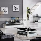 E2195 royal luxury stoving varnish stainless steel tv-stand/cabinet/unit design with thick marble top
