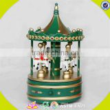wholesale baby wooden carousel music box christmas kids wooden carousel music box wooden carousel music box W07B010A