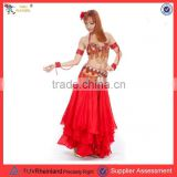 PGWC-1280 red arabic costume for girls belly dance costume