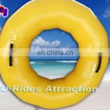 Giant Yellow Inflatable Water Swimming Tube Rings For Sale