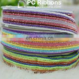 Wholesale colorful glitter jacquard elastic