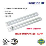 High Output U Shape T8 LED Tube 1-5/8″, CRI 90+, 150-170 lm/W