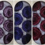 Wholesale Preseved Metallic  rose flowers for home wedding decor