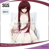 red wine color adorable baby doll hair wigs many color can made