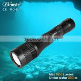 2*26650 rechargeable type light 120 degree beam angle Diving LED Torch                                                                         Quality Choice