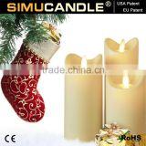 Home decoration LED candle with moving flame,timer and remote control