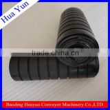 corrosion resistance rubber impact conveyor roller used for conveyor belt equipment machine