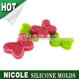 Nicole factory Q0081 handmade butterfly shape silicone mold for icing cake decoration