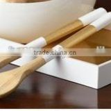 High end quality best selling special newest spun bamboo rectangular serving Tray from Vietnam