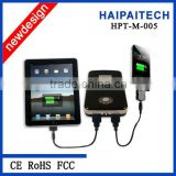 3.7V/12000mAH(4*18650) dual micro usb charger for mobile/laptop/netbook/macbook