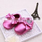2015 Soft leather baby shoes soft moccasins MOQ 8 Pairs/mixed 4 sizes