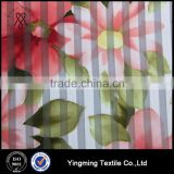 100% Polyester Striped Printed Organza Fabric for Women's Fashion Garments/Wedding/Blouses/Shirts/Skirts