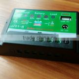 Factory supplier 12V/24V solar charge controller with USB output, pwm solar charger controller, 5A/10A solar charger contr