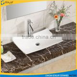 European Design Sanitary Ware Bathroom Ceramic Sink Above Counter Wash Basin New Art Basin