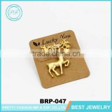 Cheap small brooch and pins christmas jewelry gold lovely elk brooch for children