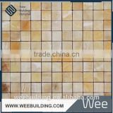ITEM: MF001C2-P Natural Jade Marble Art Mosaic Golden Select Glass And Stone Mosaic Wall Tiles