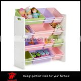 Easy-assembly kids bedroom furniture toy storage rack                                                                         Quality Choice